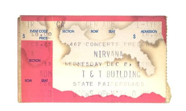 Ticket stub provided by Joe O'Shansky