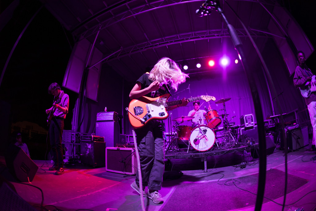 Snail Mail performing live at Norman Music Festival in 2018. [Photo by Nathan Poppe]